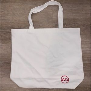 AG Adriano Goldschmied large white tote bag